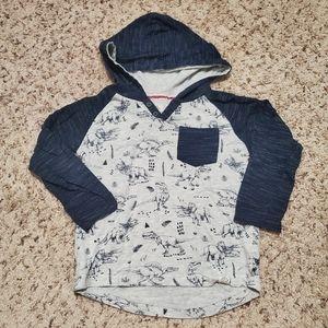 Dinosaur hoodie long sleeve